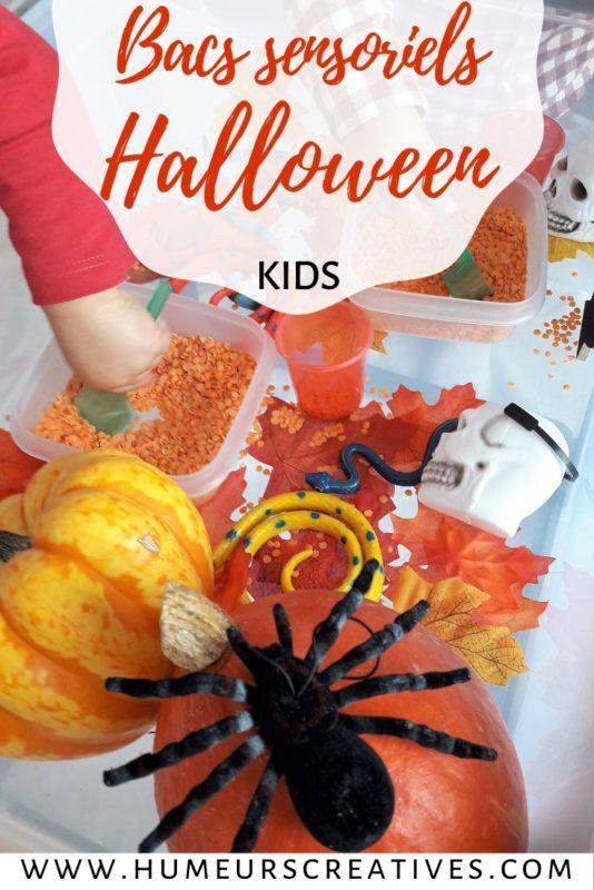 Des idées de bacs sensoriels d'Halloween pour les enfants