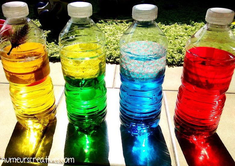 activité pour tout petits : les bouteilles sensorielles