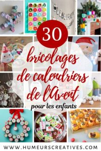 30 bricolages de calendriers de l'Avent à fabriquer avec les enfants