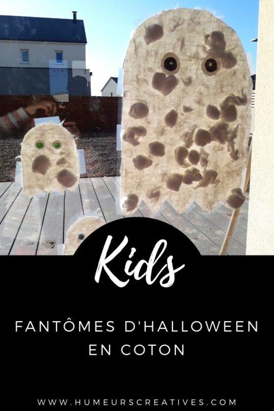 Bricolage d'Halloween pour les enfants : décorer des fantômes avec du coton - attrape-soleil