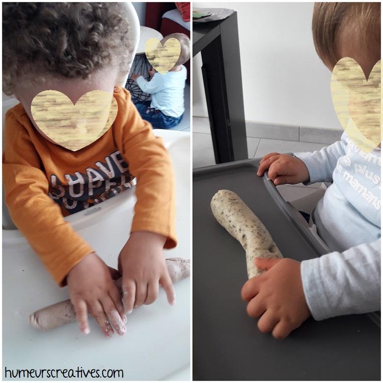 réalisation de boudins avec la pâte à modeler