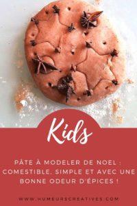 recette de pâte à modeler de Noêl aux épices, facile et comestible