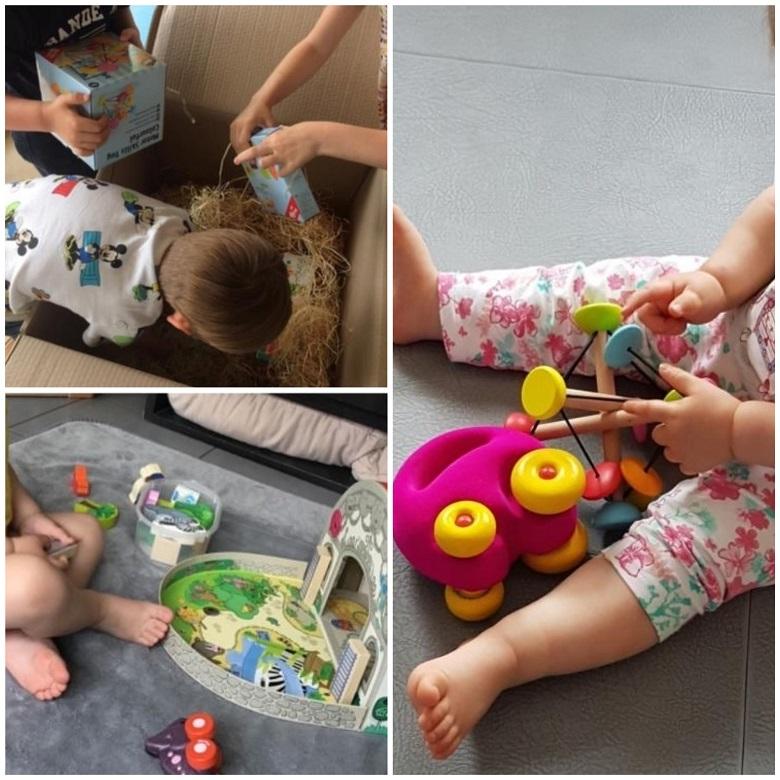 découverte et utilisation des jouets Petite Marelle par les enfants