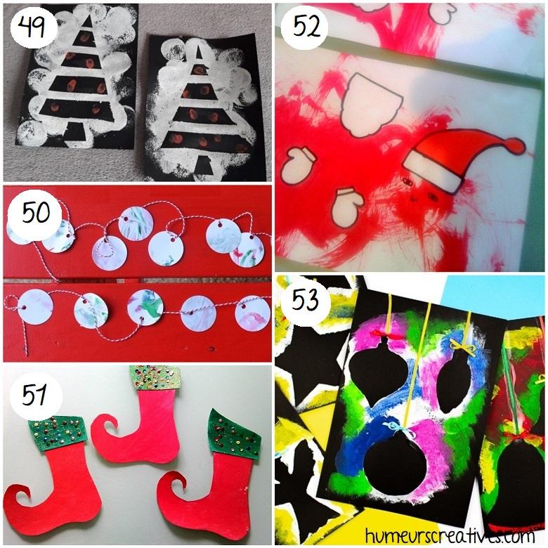 bricolages de noel à la peinture pour les enfants