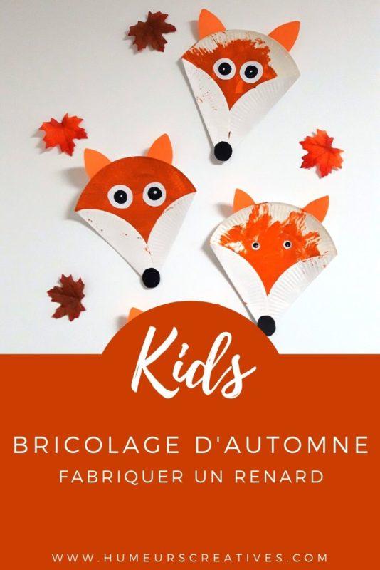 Bricolage pour enfants : fabriquer des renards