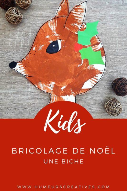 Bricolage de Noël pour enfants : fabriquer une biche avec une assiette en carton