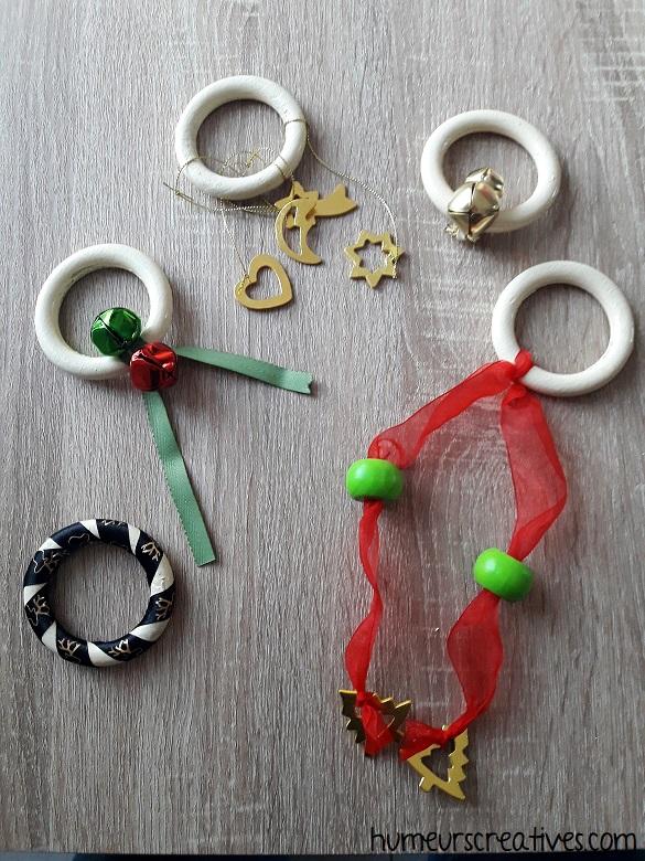 fabriquer des hochets de noel pour bébé