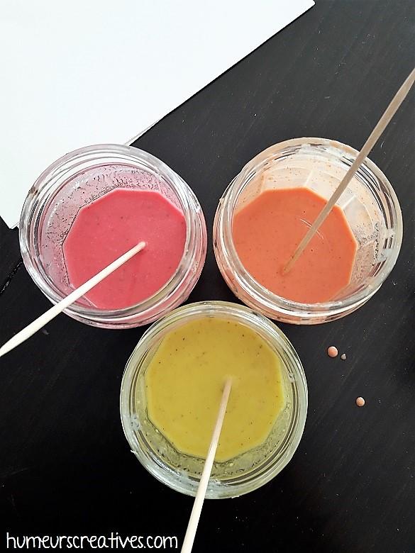 recette de la peinture aux épices pour les enfants