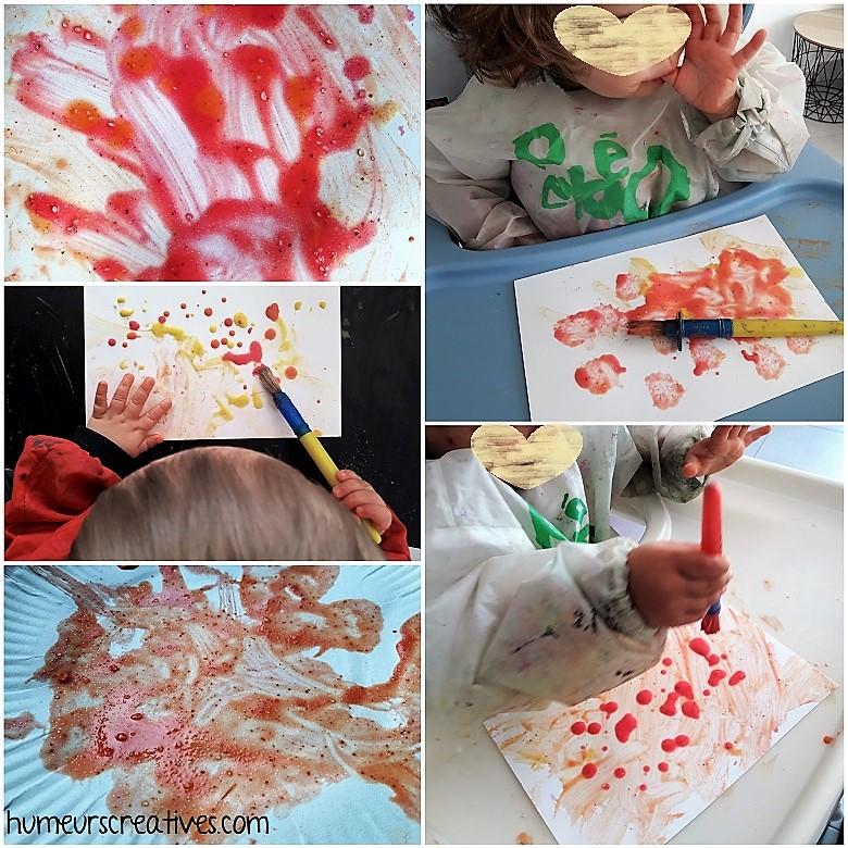 découverte de la peinture aux épices avec les enfants