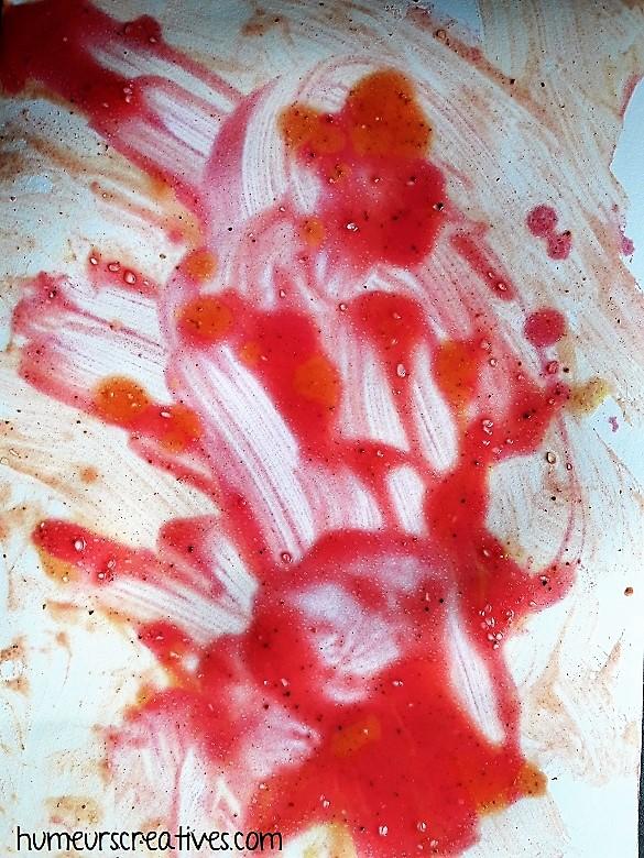 résultat de notre peinture aux épices