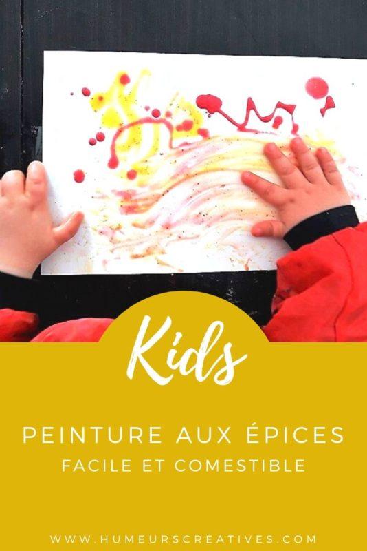 Recette de la peinture comestible aux épices. Une activité manuelle adaptée aux tout-petits enfants