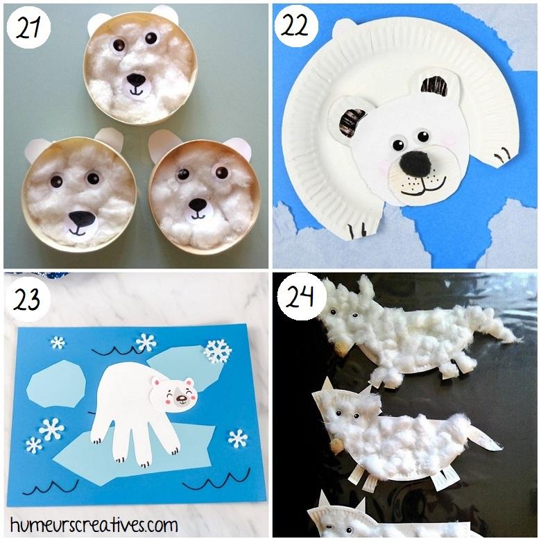 Bricolage pour enfants : animaux polaires
