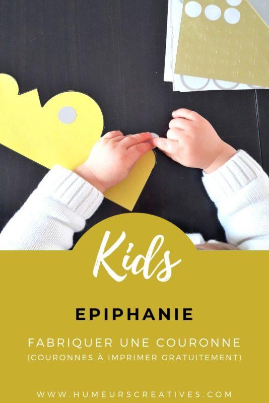 Activité Epiphanie : décorer des couronnes de rois et reines pour les enfants