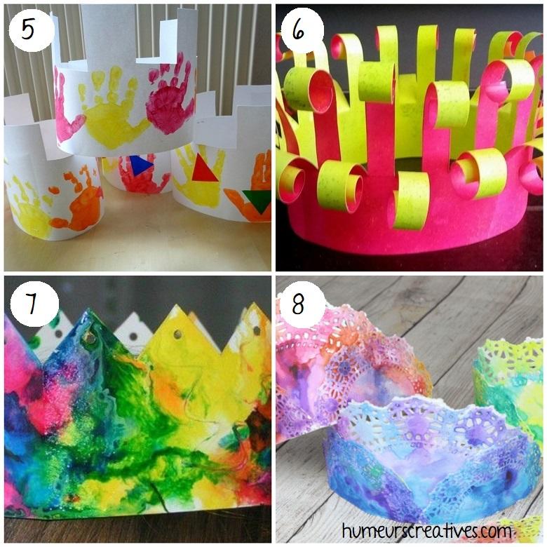 Idées de bricolages de couronnes pour les enfants