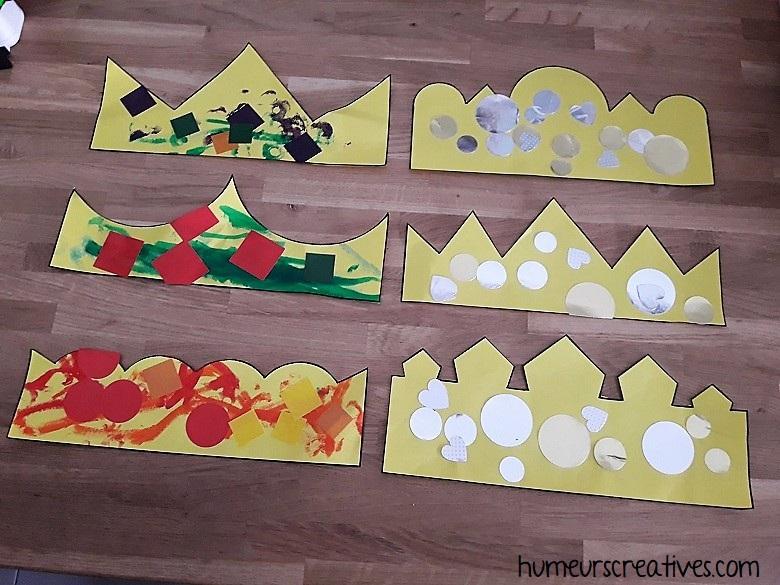 bricolage couronnes pour enfants