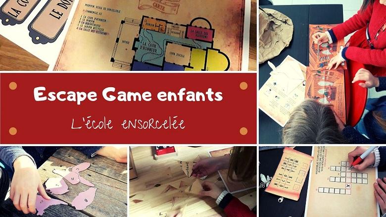 escape game à la maison pour enfants : l'école ensorcelée. Une escape inspirée d'Harry Potter