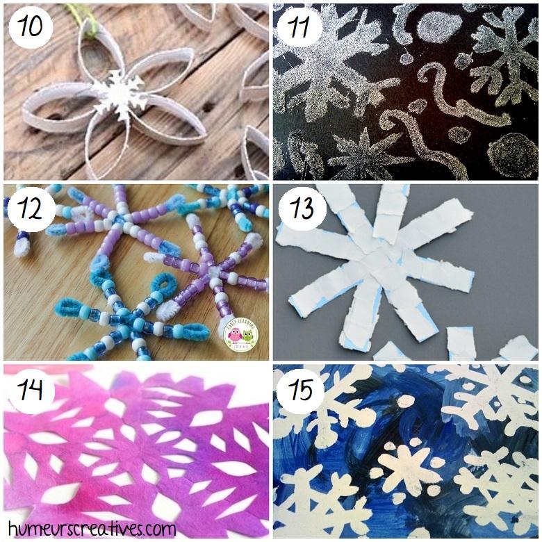 Bricolage flocons de neige pour enfants