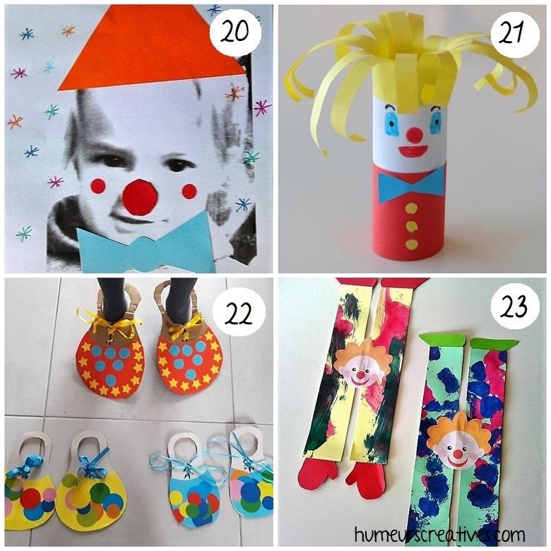 Bricolages de clowns pour enfants