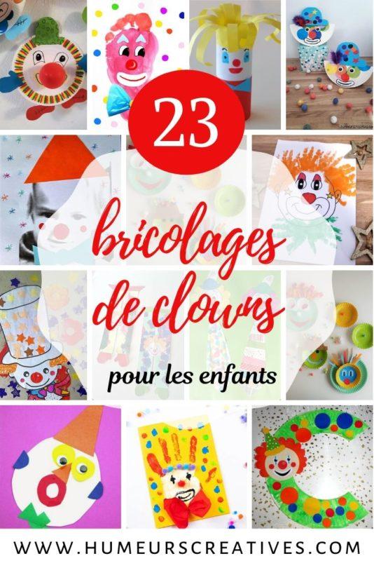 Sélection de bricolages de clowns pour les enfants