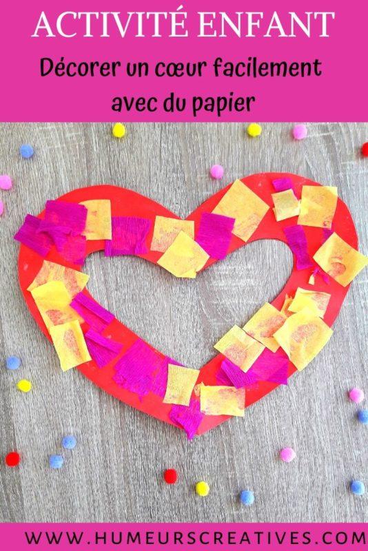 Bricolage pour enfant : fabriquer un coeur en papier