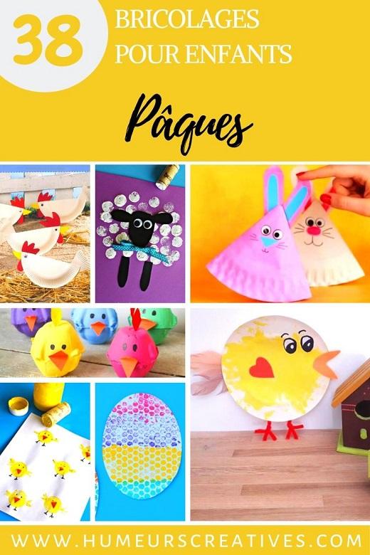 Bricolages et activités manuelles de Pâques pour les enfants