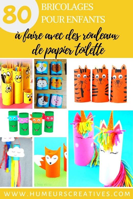 80 bricolages avec des rouleaux de papier, à fabriquer avec les enfants