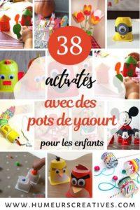 idées d'activités et bricolages pour enfants à faire avec des pots de yaourt recyclés