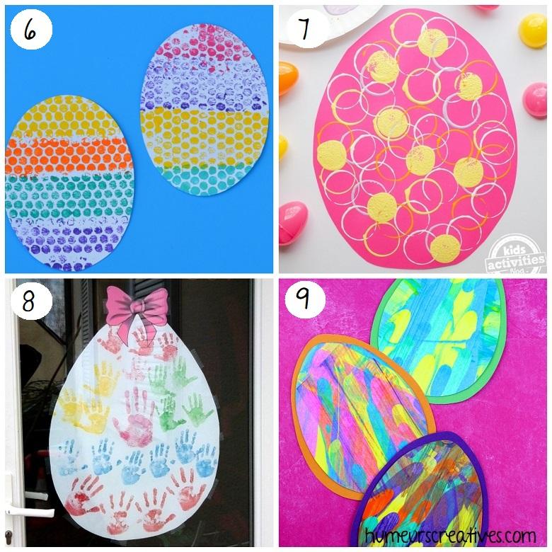 Bricolages œufs de Pâques pour enfants