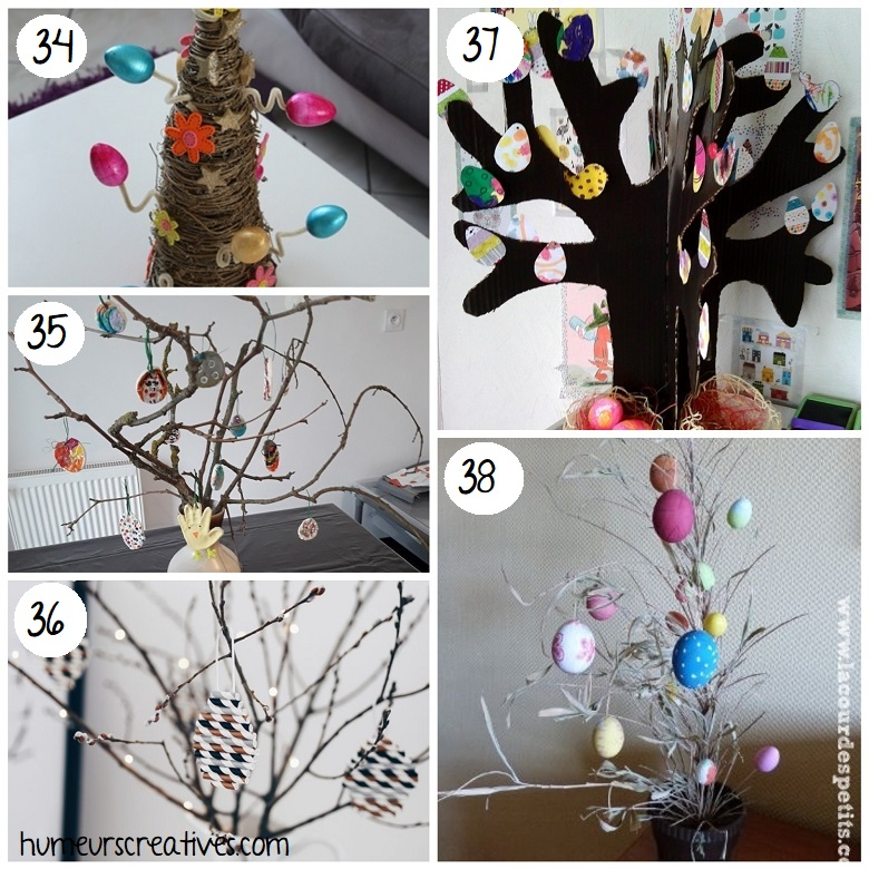 Fabriquer des arbres de Pâques avec les enfants