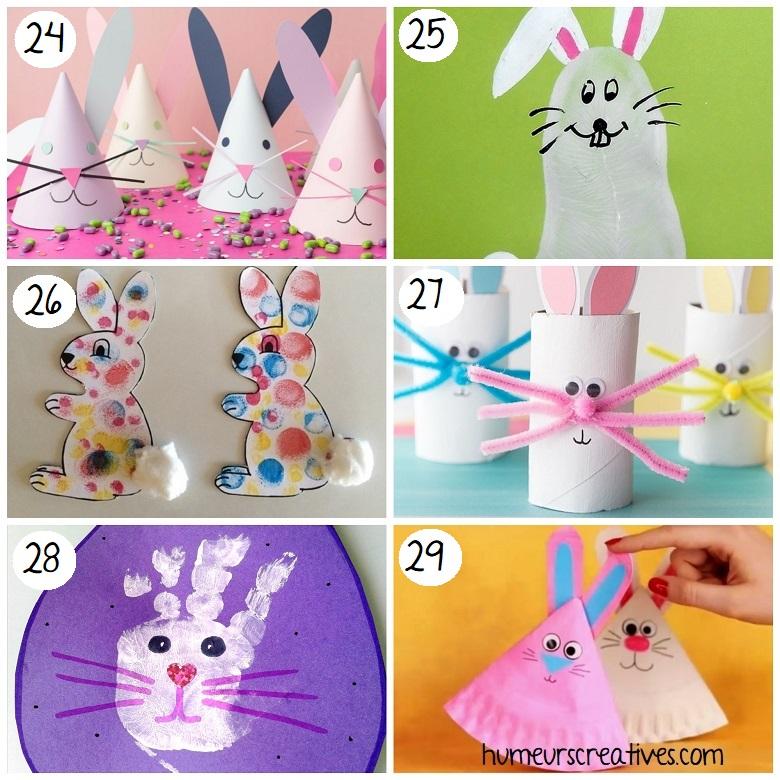 Bricolages de Pâques pour enfants : fabriquer des lapins de Pâques