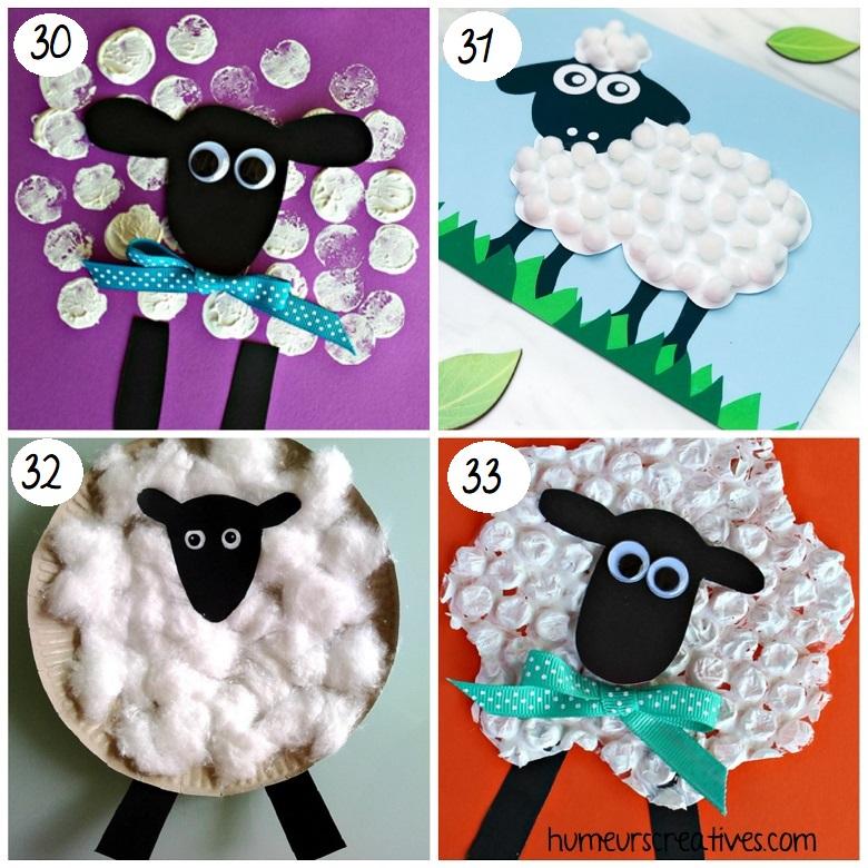 Bricolages de Pâques pour enfants : fabriquer des moutons