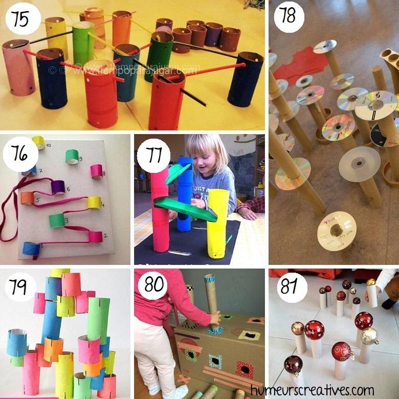 Jeux pour enfants avec des rouleaux de papier toilette (2)