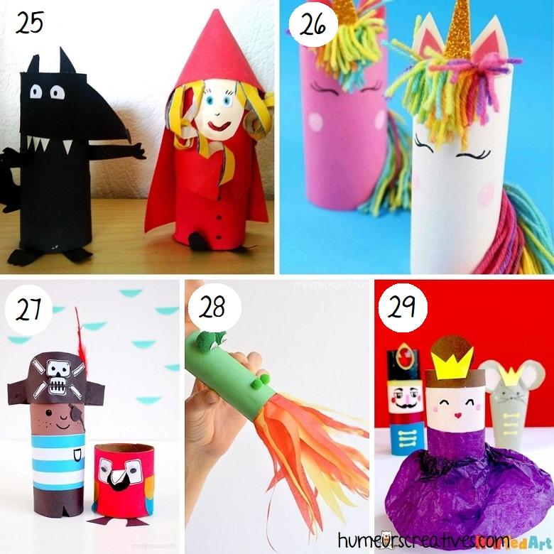 Bricolage personnages en rouleaux de papier toilette pour enfants (1)