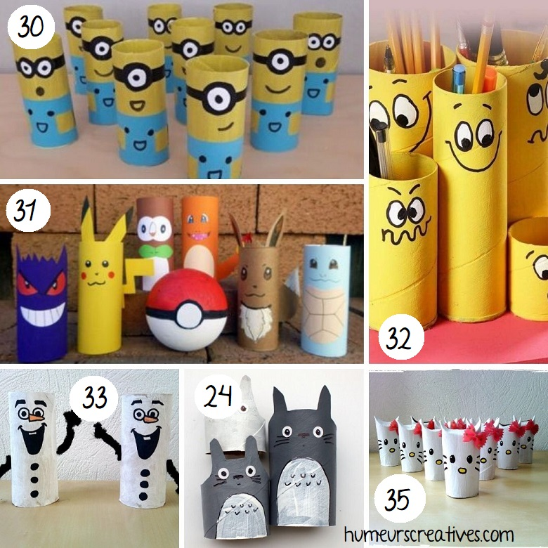 Bricolage personnages en rouleaux de papier toilette pour enfants (2)