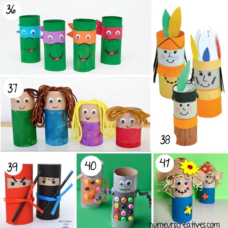Bricolage personnages en rouleaux de papier toilette pour enfants (4)