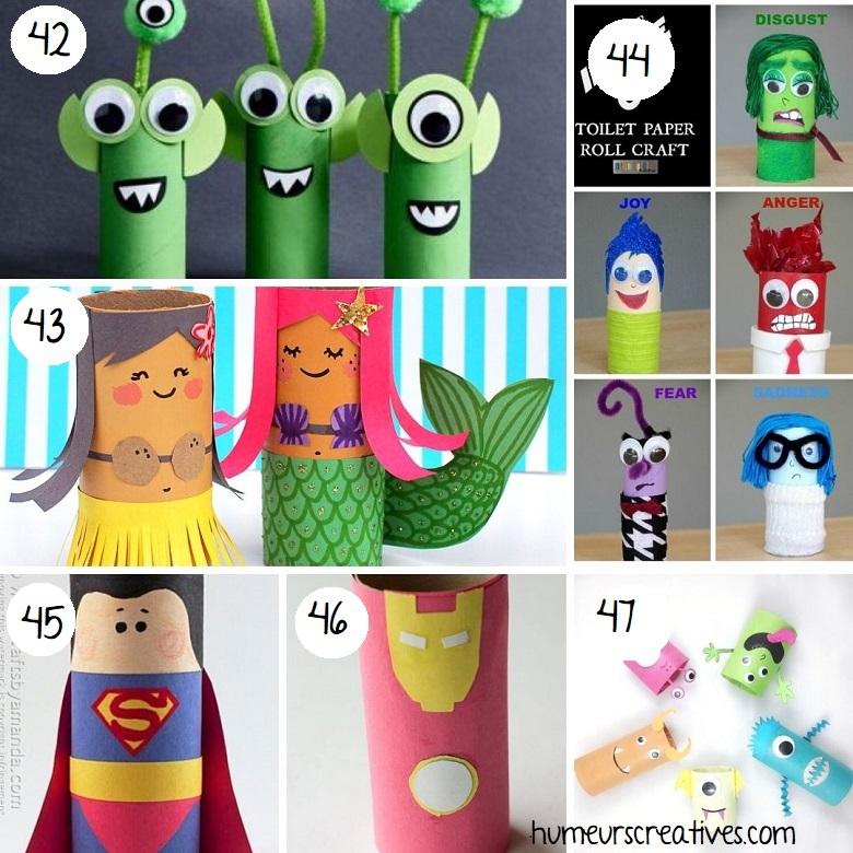 Bricolage personnages en rouleaux de papier toilette pour enfants (3)