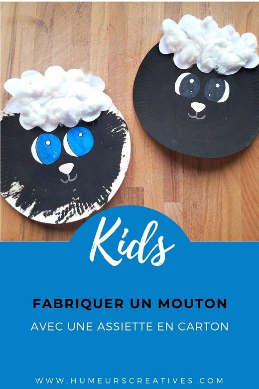 Bricolage pour enfant : fabriquer un mouton avec une assiette en carton