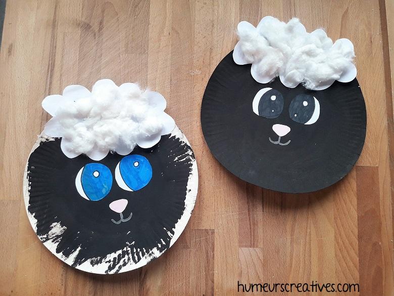 nos moutons réalisés par les enfants