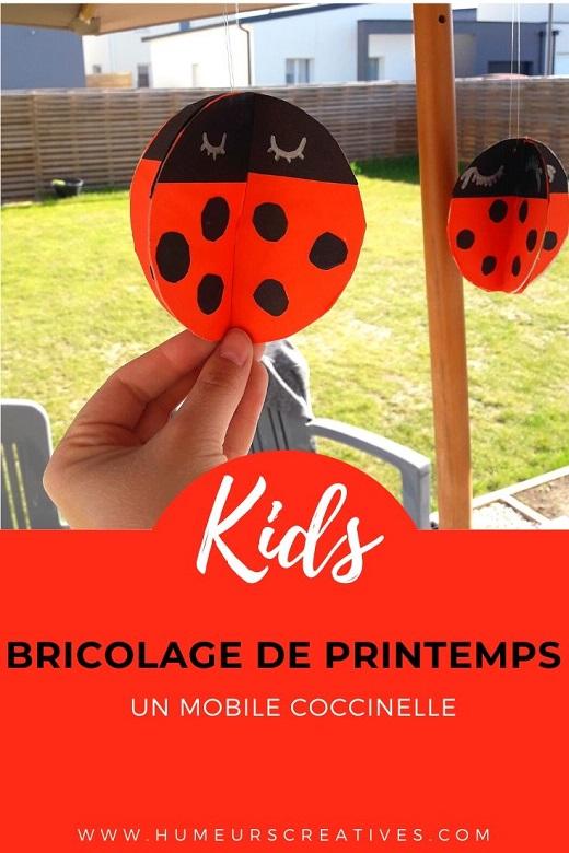Bricolage de printemps pour les enfants : fabriquer un mobile de coccinelles