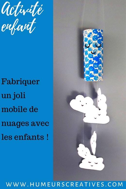 Fabriquer un joli mobile de nuage avec les enfants