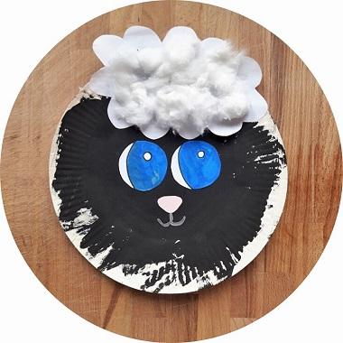 Fabriquer un mouton avec une assiette en carton