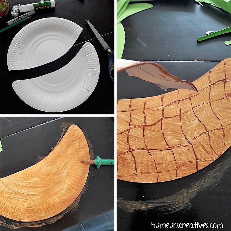 étape 1 : fabriquer le panier avec une assiette en carton