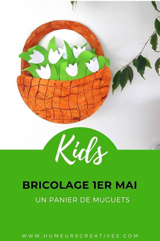 bricolage pour enfants pour le 1er mai : un panier de muguet