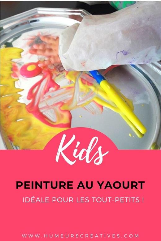 Recette de la peinture au yaourt, recette comestible et adaptée pour les bébés