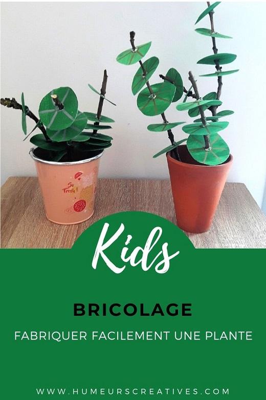 Fabriquer une plante en carton, un bricolage facile pour les enfants
