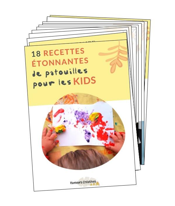18 recettes étonnantes de patouilles pour les enfants
