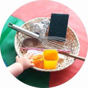 Boîte à trésors bébé sur le thème de la cuisine