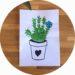 bricolage pour enfant : un cactus en empreinte de main