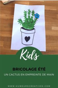 Un cactus en empreinte de main, un joli bricolage à faire avec les enfants