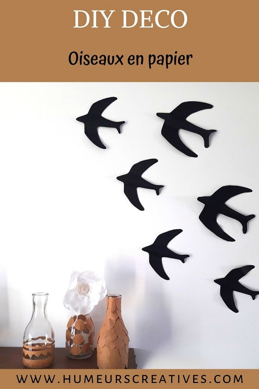 DIY oiseaux en papier, une jolie décoration pour la maison